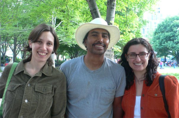 karin(tribeca) + pedro(la baraja) + paula(just food) = fresh veggies for everyone!
